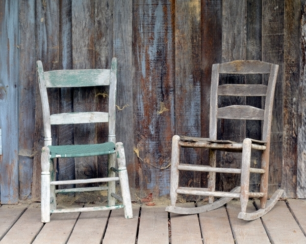 Rustic Chairs Set