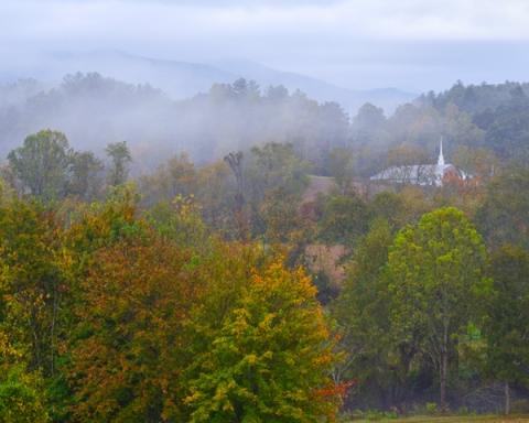Foggy Morn and Church
